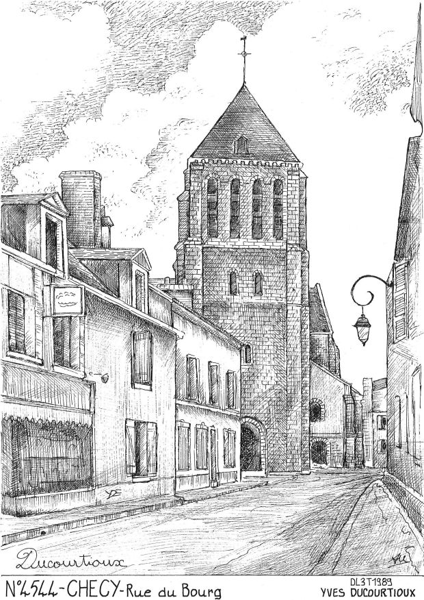 Carte Postale N° 45044 - CHECY - rue du bourg
