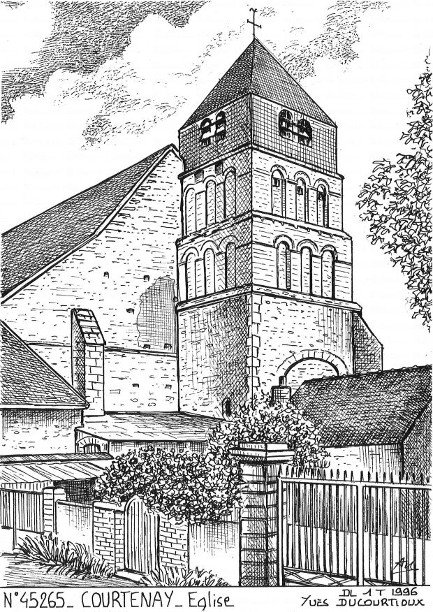 Carte Postale N° 45265 - COURTENAY - église