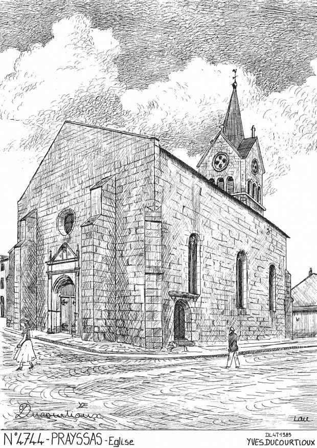 Carte Postale N° 47044 - PRAYSSAS - église
