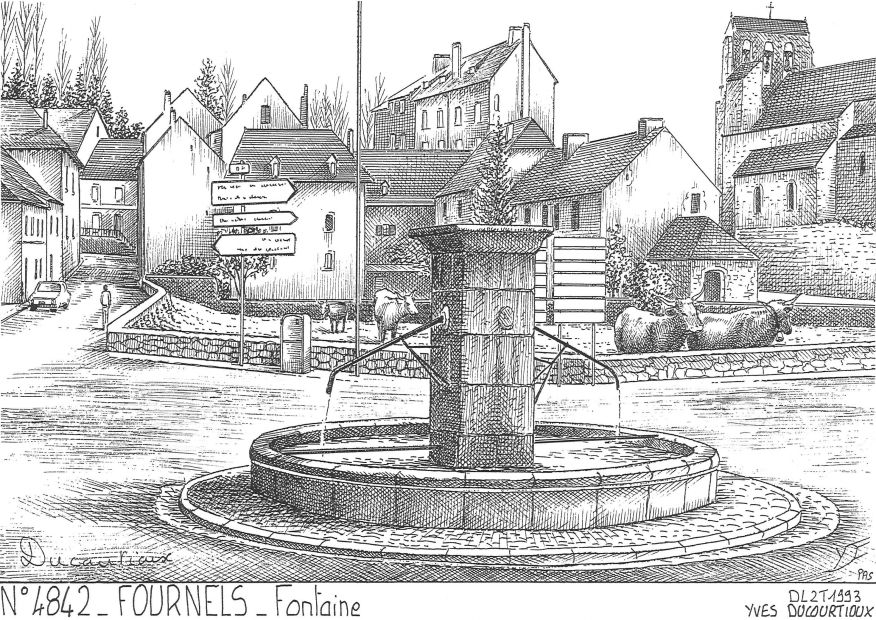 Carte Postale N° 48042 - FOURNELS - fontaine