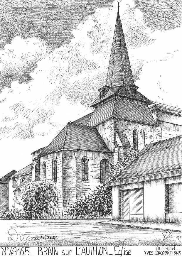 Carte Postale N° 49165 - BRAIN SUR L AUTHION - église