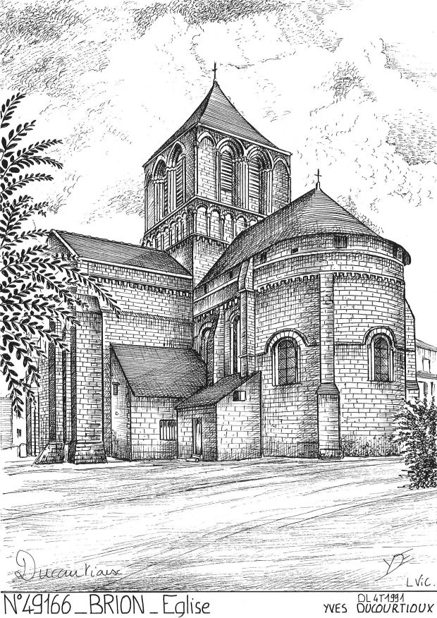 Carte Postale N° 49166 - BRION - église