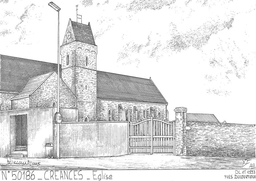 Carte Postale N° 50186 - CREANCES - église