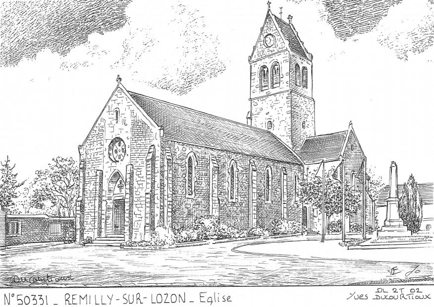 Carte Postale N° 50331 - REMILLY SUR LOZON - église