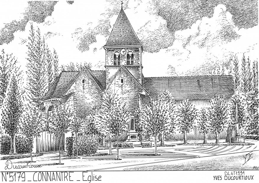 Carte Postale N° 51079 - CONNANTRE - église