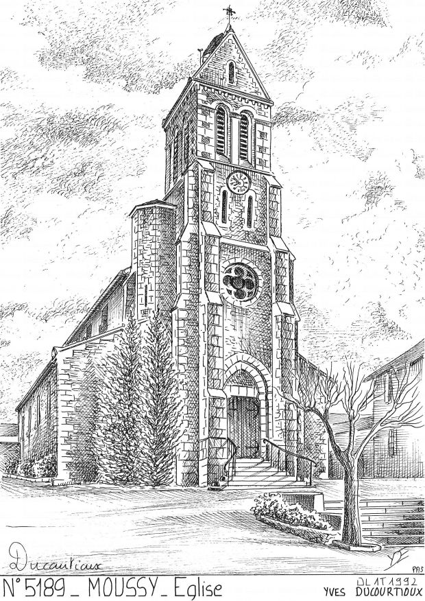 Carte Postale N° 51089 - MOUSSY - église