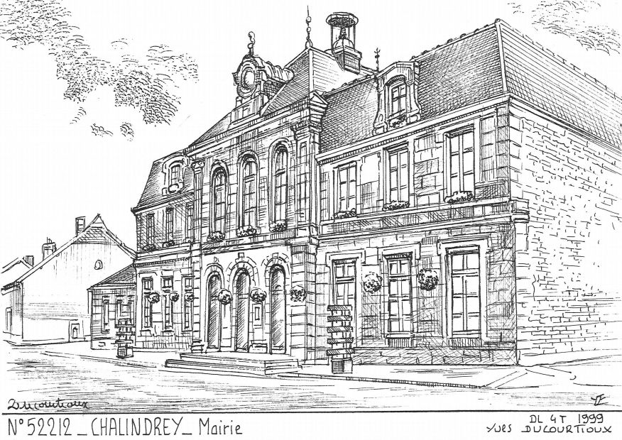 Cartes postales CHALINDREY - mairie