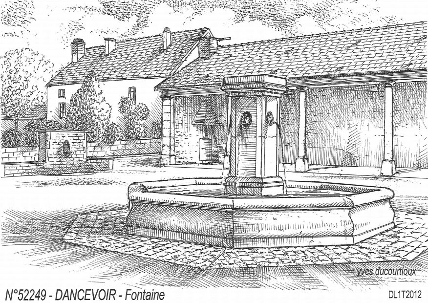 Carte Postale N° 52249 - DANCEVOIR - fontaine