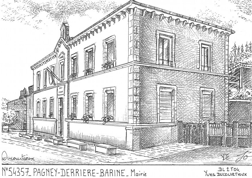 Carte Postale N° 54357 - PAGNEY DERRIERE BARINE - mairie