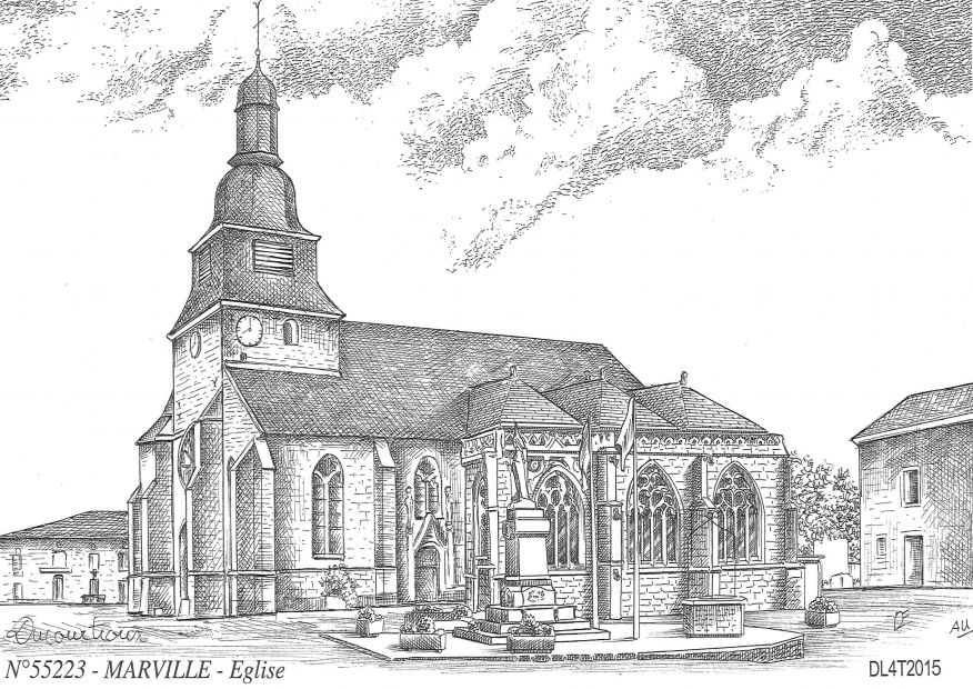 Carte Postale N° 55223 - MARVILLE - église