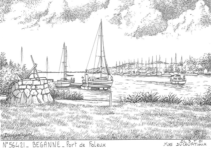 Carte Postale N° 56421 - BEGANNE - port de foleux