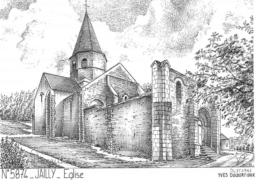 Carte Postale N° 58074 - JAILLY - église