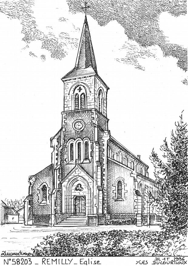 Carte Postale N° 58203 - REMILLY - église