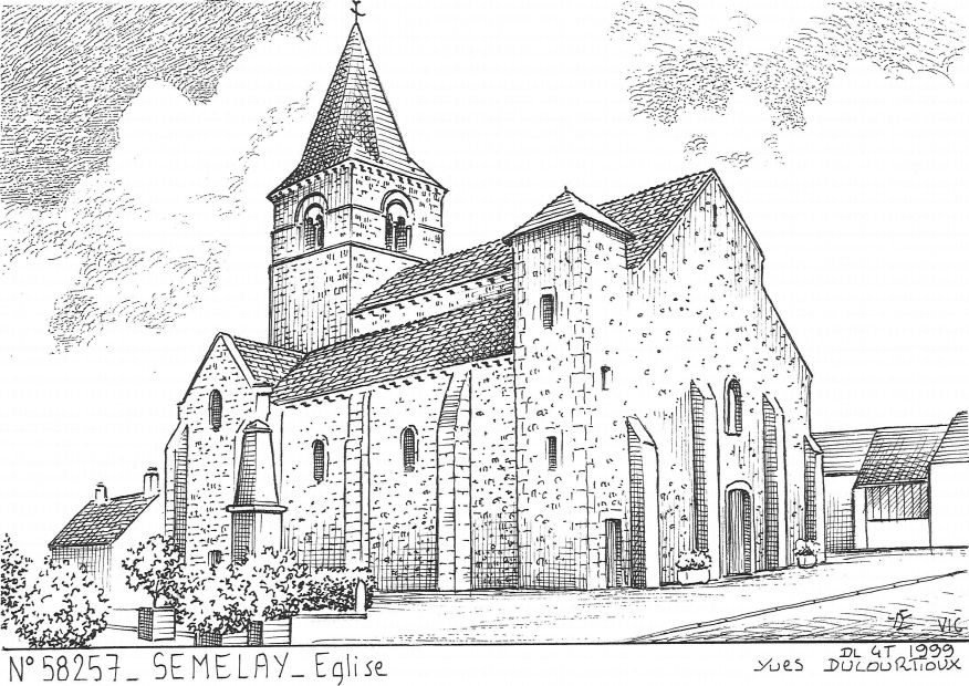 Carte Postale N° 58257 - SEMELAY - église