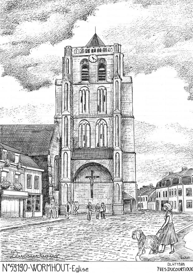 Cartes postales WORMHOUT - église