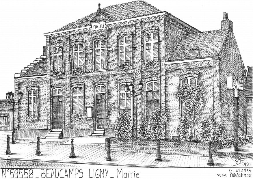 Carte Postale N° 59558 - BEAUCAMPS LIGNY - mairie