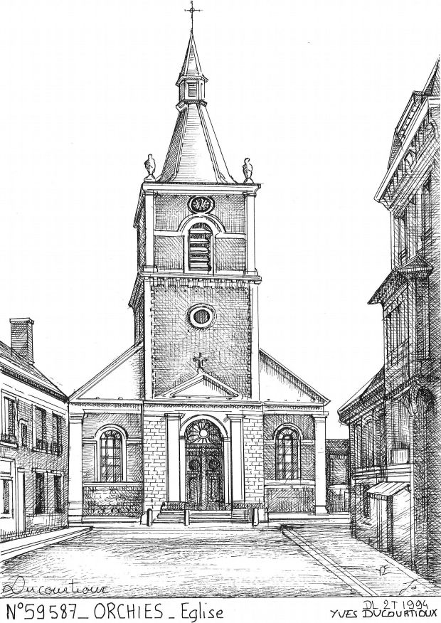 Carte Postale N° 59587 - ORCHIES - église