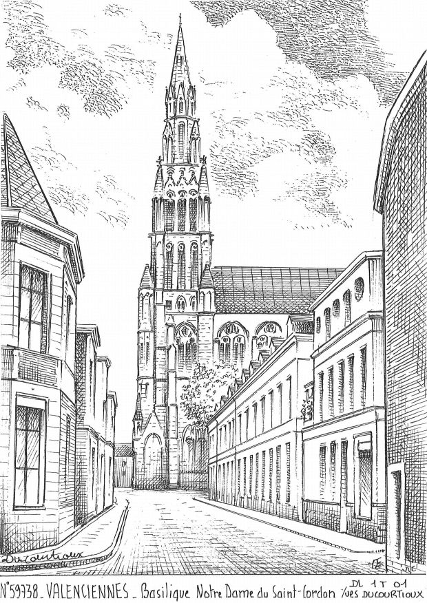 Carte Postale N° 59738 - VALENCIENNES - basilique nd du st cordon