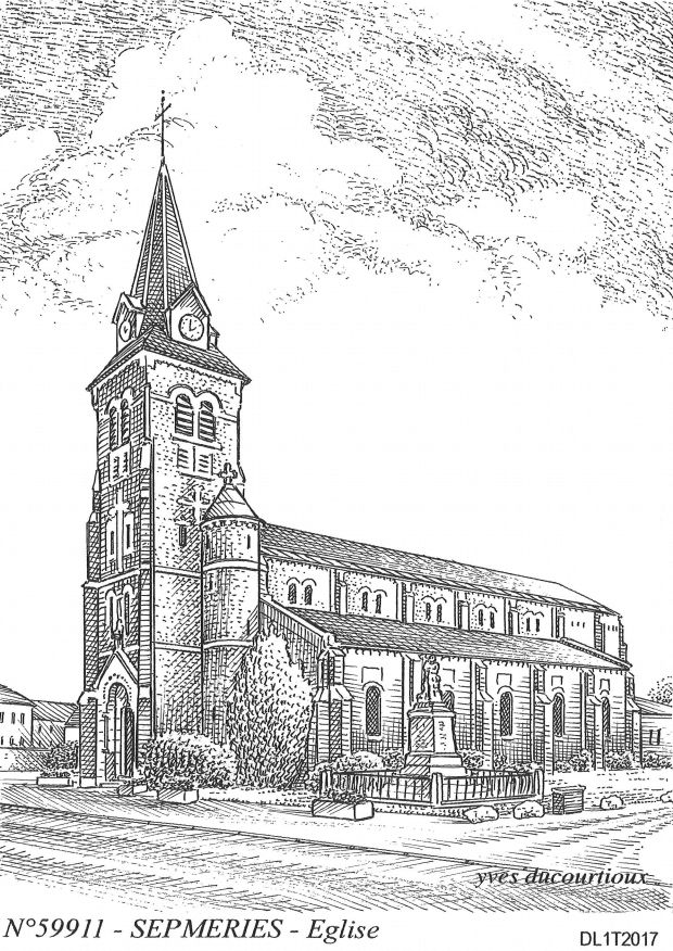 Carte Postale N° 59911 - SEPMERIES - église