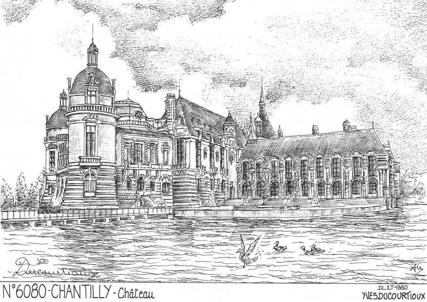 Cartes postales CHANTILLY - château