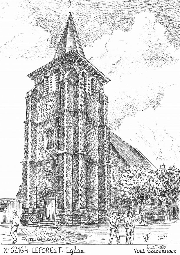 Carte Postale N° 62164 - LEFOREST - église