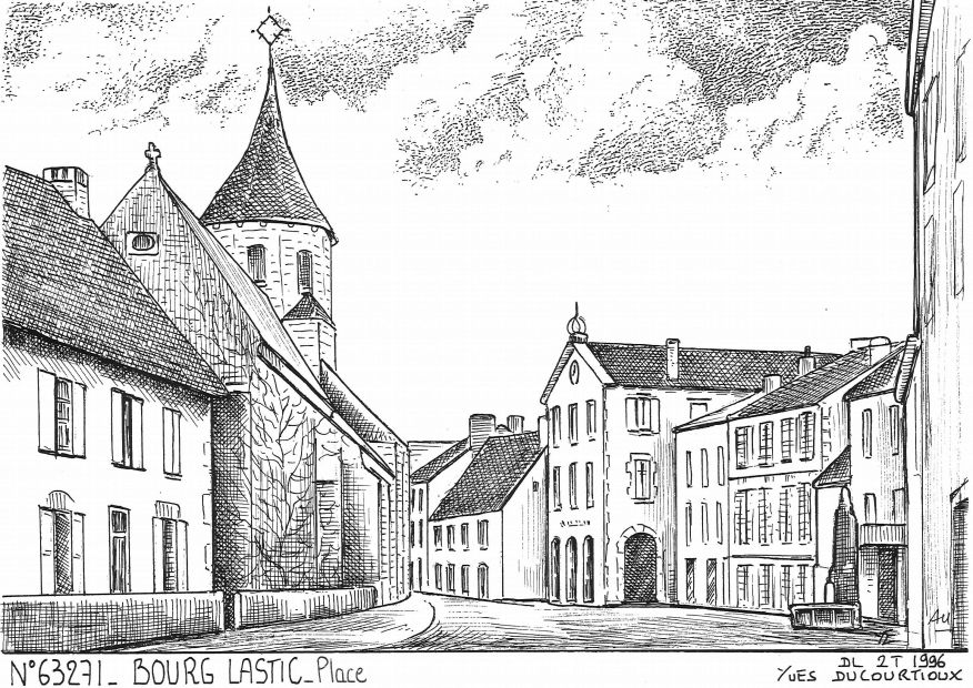 Carte Postale N° 63271 - BOURG LASTIC - place