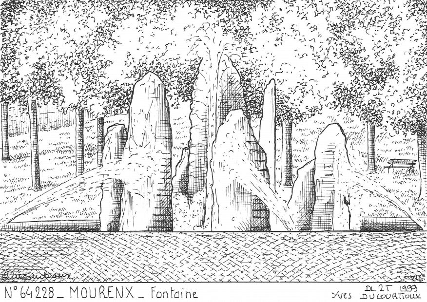 Carte Postale N° 64228 - MOURENX - fontaine
