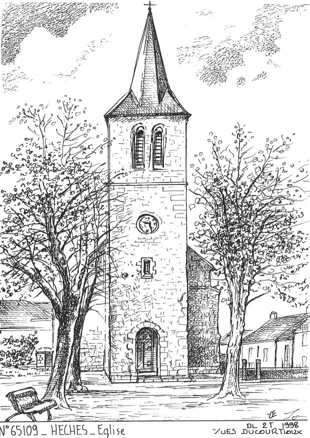 Cartes postales HECHES - église