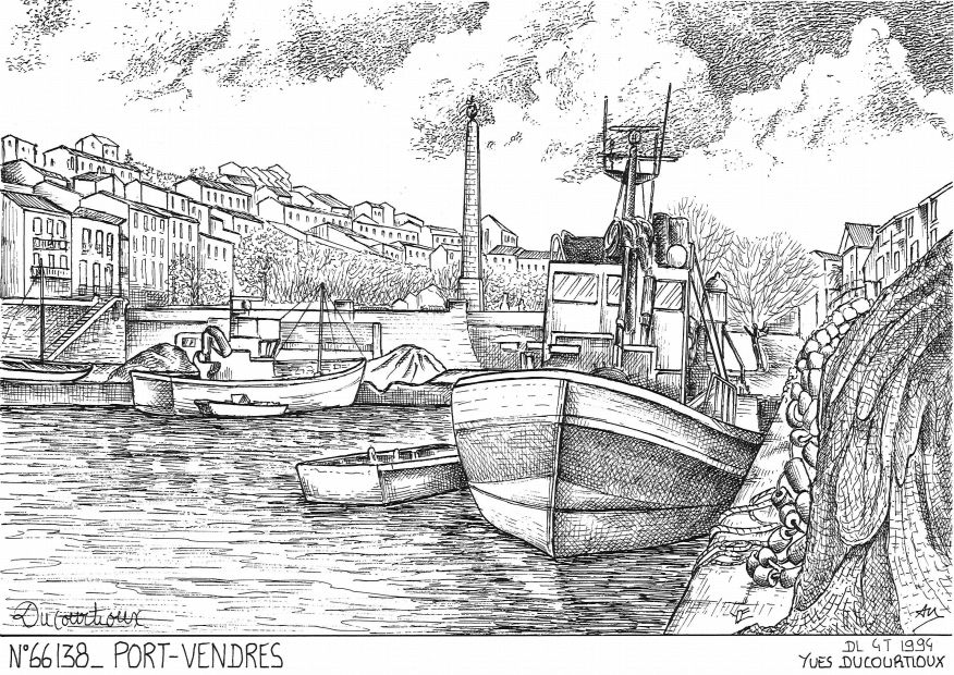 Carte Postale N° 66138 - PORT VENDRES - vue