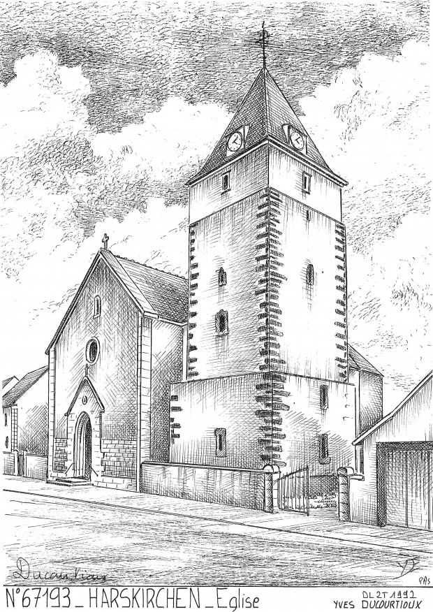 Carte Postale N° 67193 - HARSKIRCHEN - église
