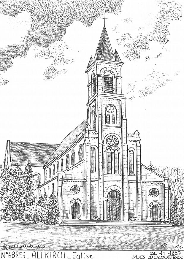 Carte Postale N° 68257 - ALTKIRCH - église
