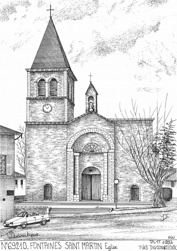 Carte Postale N° 69210 - FONTAINES ST MARTIN - église