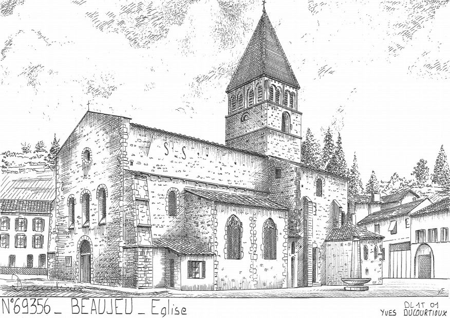 Carte Postale N° 69356 - BEAUJEU - église