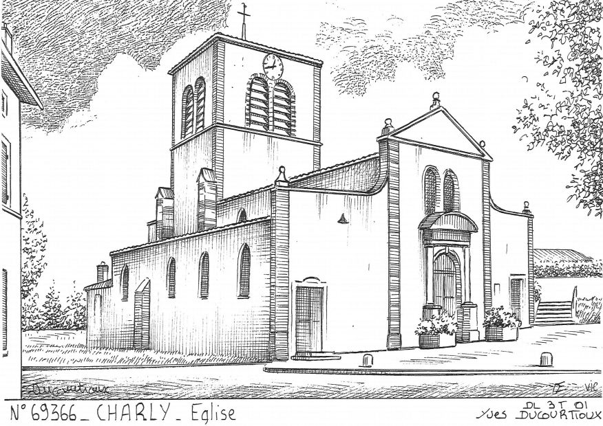 Cartes postales CHARLY - église
