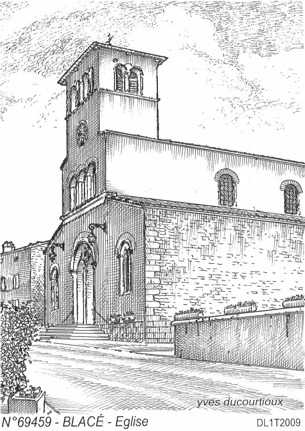 Carte Postale N° 69459 - BLACE - église