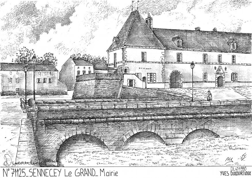 Cartes postales SENNECEY LE GRAND - mairie