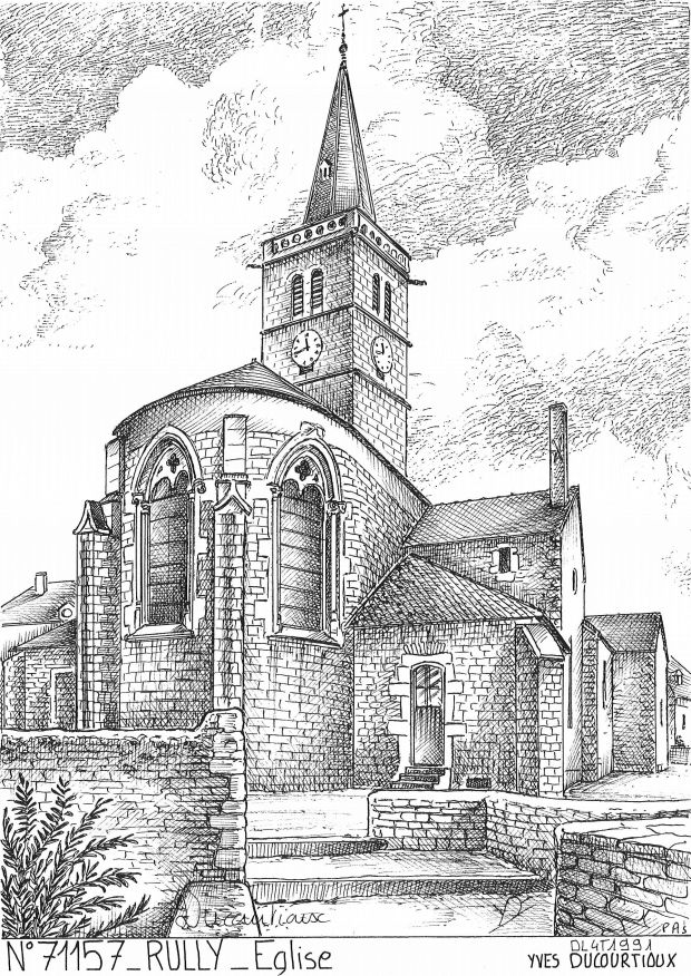 Cartes postales RULLY - église