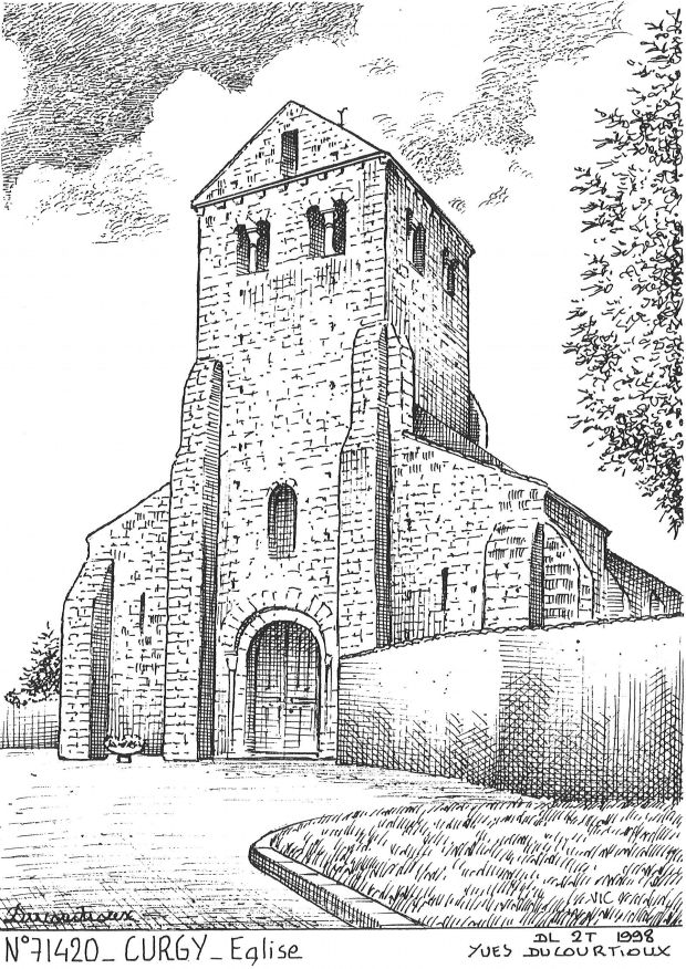 Carte Postale N° 71420 - CURGY - église