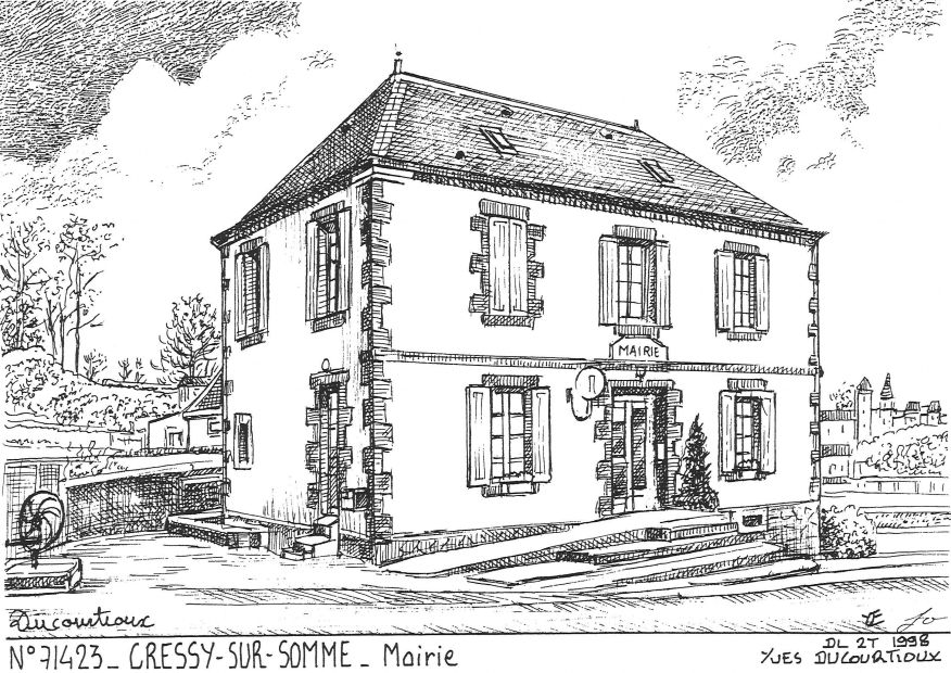 Carte Postale N° 71423 - CRESSY SUR SOMME - mairie