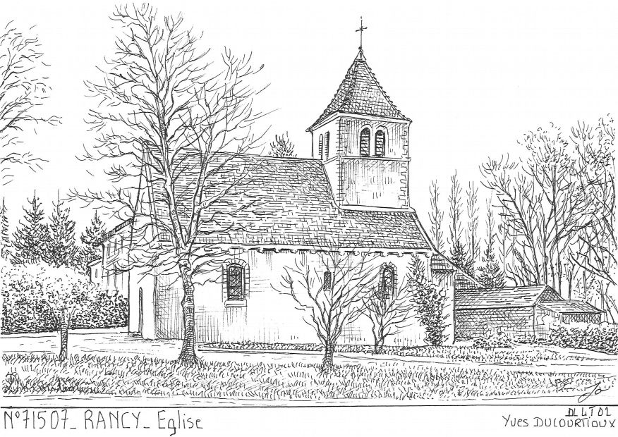 Cartes postales RANCY - église