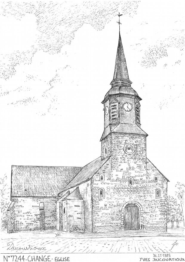 Carte Postale N° 72044 - CHANGE - église