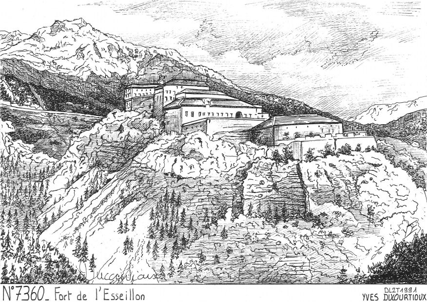 Carte Postale N° 73060 - AUSSOIS - fort de l esseillon