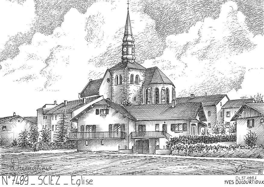 Carte Postale N° 74089 - SCIEZ - église