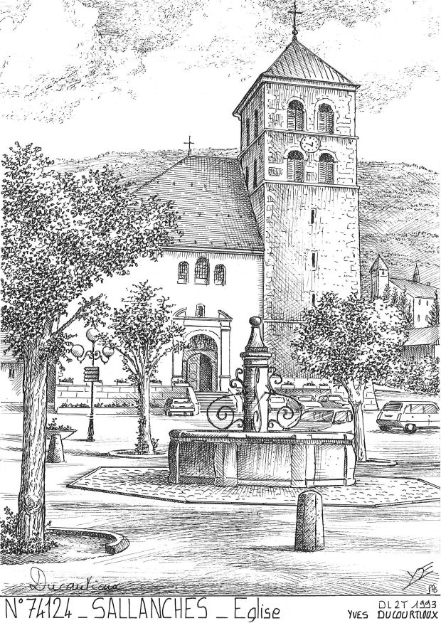 Carte Postale N° 74124 - SALLANCHES - église