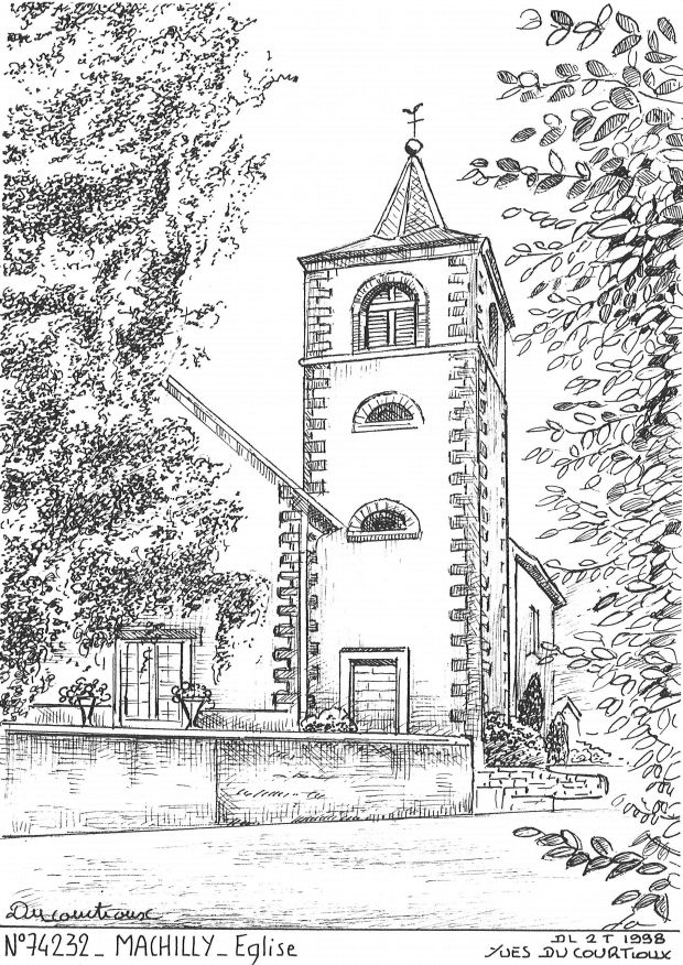 Carte Postale N° 74232 - MACHILLY - église