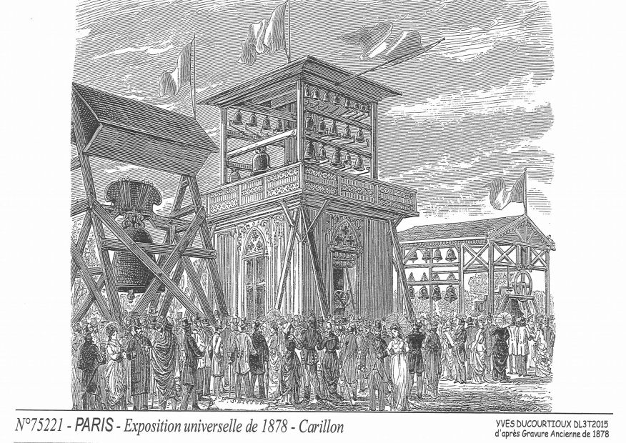 Cartes postales PARIS - expo 1878, carillon²