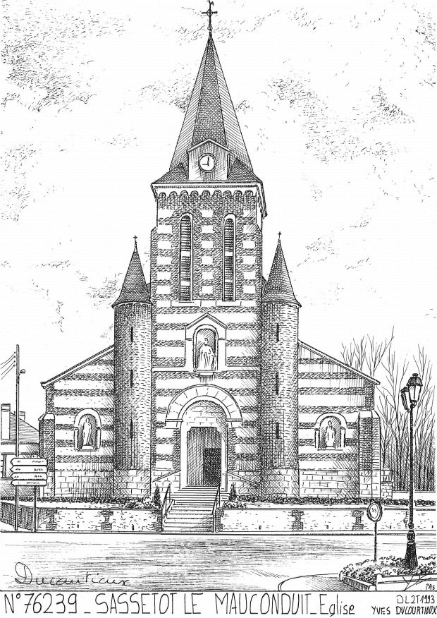 Carte Postale N° 76239 - SASSETOT LE MAUCONDUIT - église