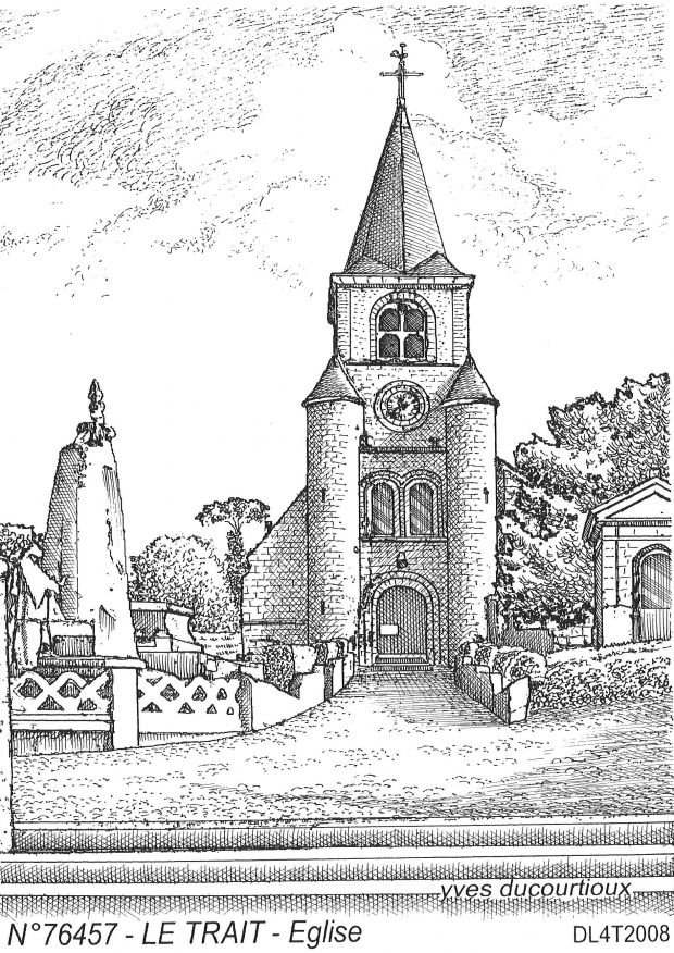 Carte Postale N° 76457 - LE TRAIT - église