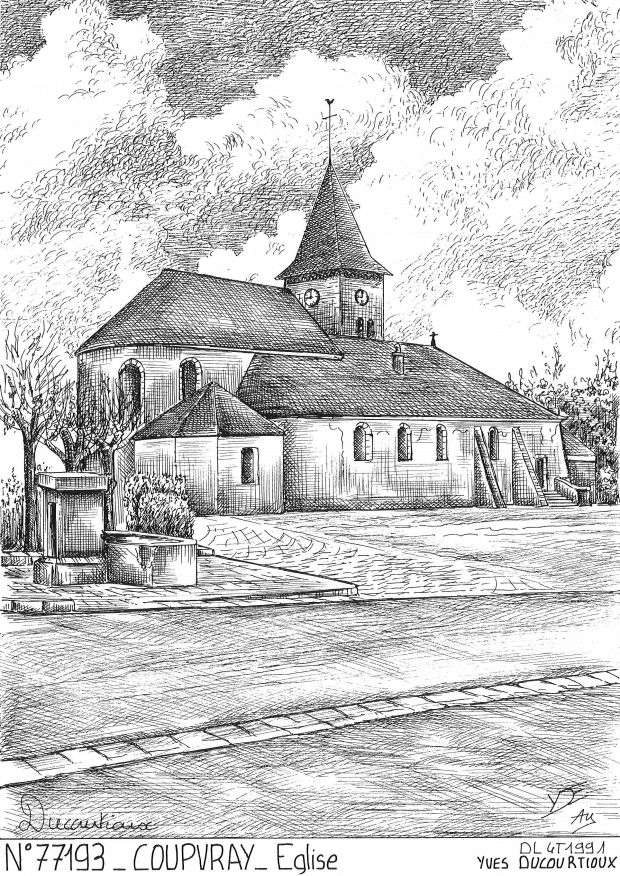Carte Postale N° 77193 - COUPVRAY - église