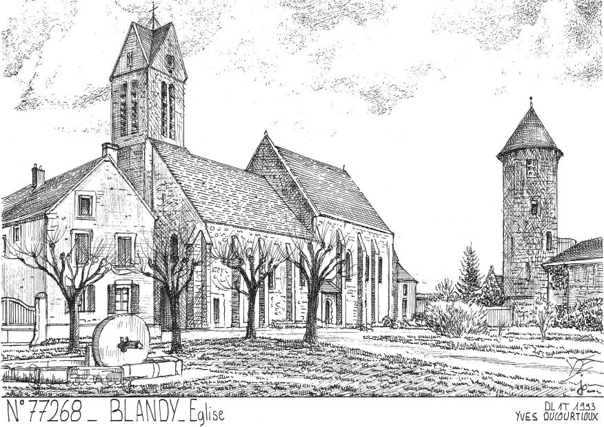 Carte Postale N° 77268 - BLANDY - église